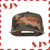 Custom made embroidery 5 panel camo snapback hat wholesale