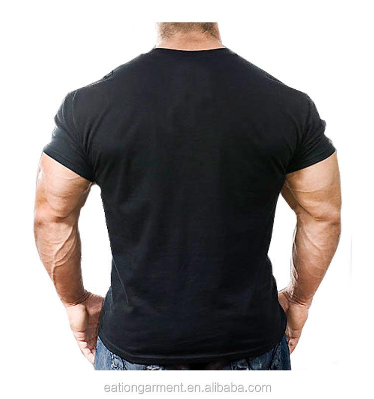 Black Men Short Seelve And Wholesale 100% Cotton Custom T Shirt ...