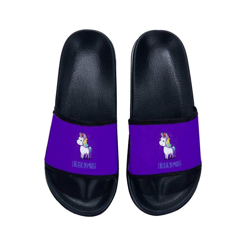 MingDe Sports Stylish Beach Sandals for Boys Girls Unicorn Anti-Slip Bath Slippers Shower Shoes Indoor Floor Slipper