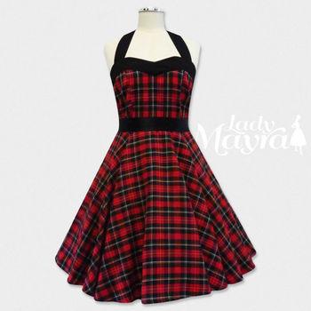 13b962aab0999 Rockabilly 50s Tartan Checker Lolita Emo Rock Petticoat Pin Up Gothic Punk  Vintage Retro Party Swing