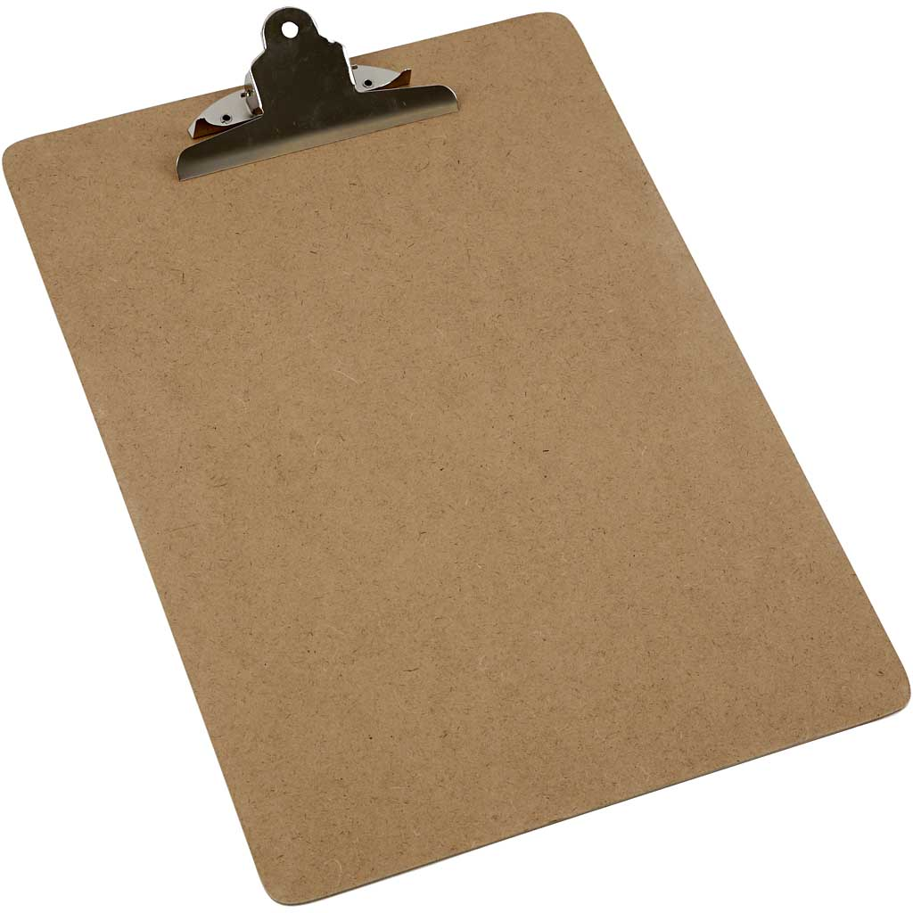Cheap wood material brown color clip board