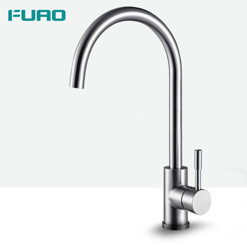 FUAO china new desigh 304 stainless steel kitchen faucet