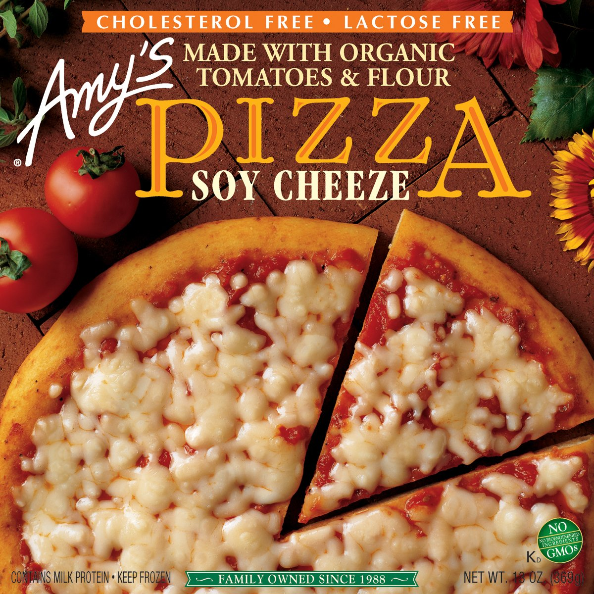 Amy's Soy Cheese Pizza, Organic, 13-Ounce Boxes (Pack of 8)