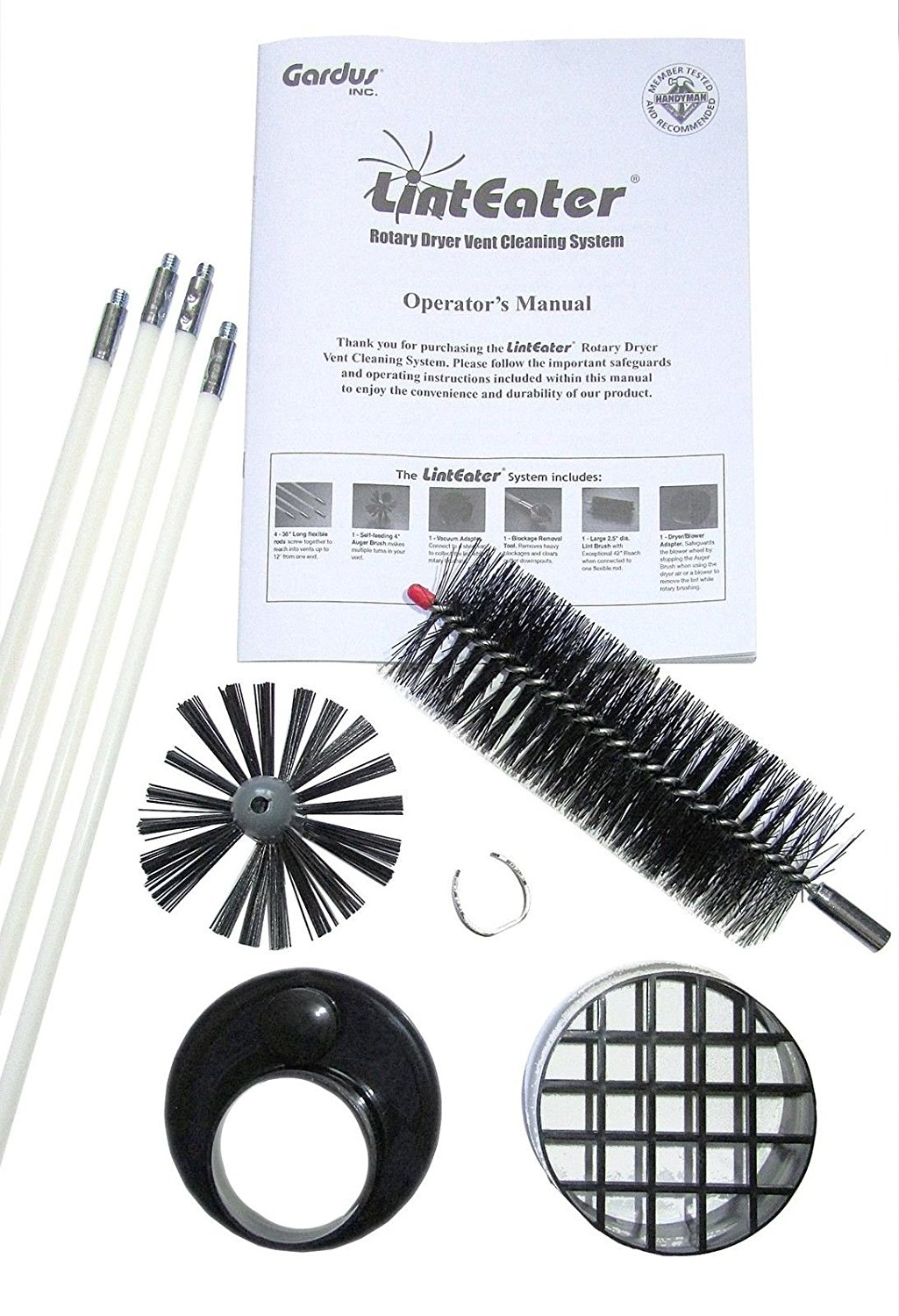 Gardus RLE202 LintEater 10-Piece Rotary Dryer Vent Cleaning System Gardus __#G451YH4 51IO3447184