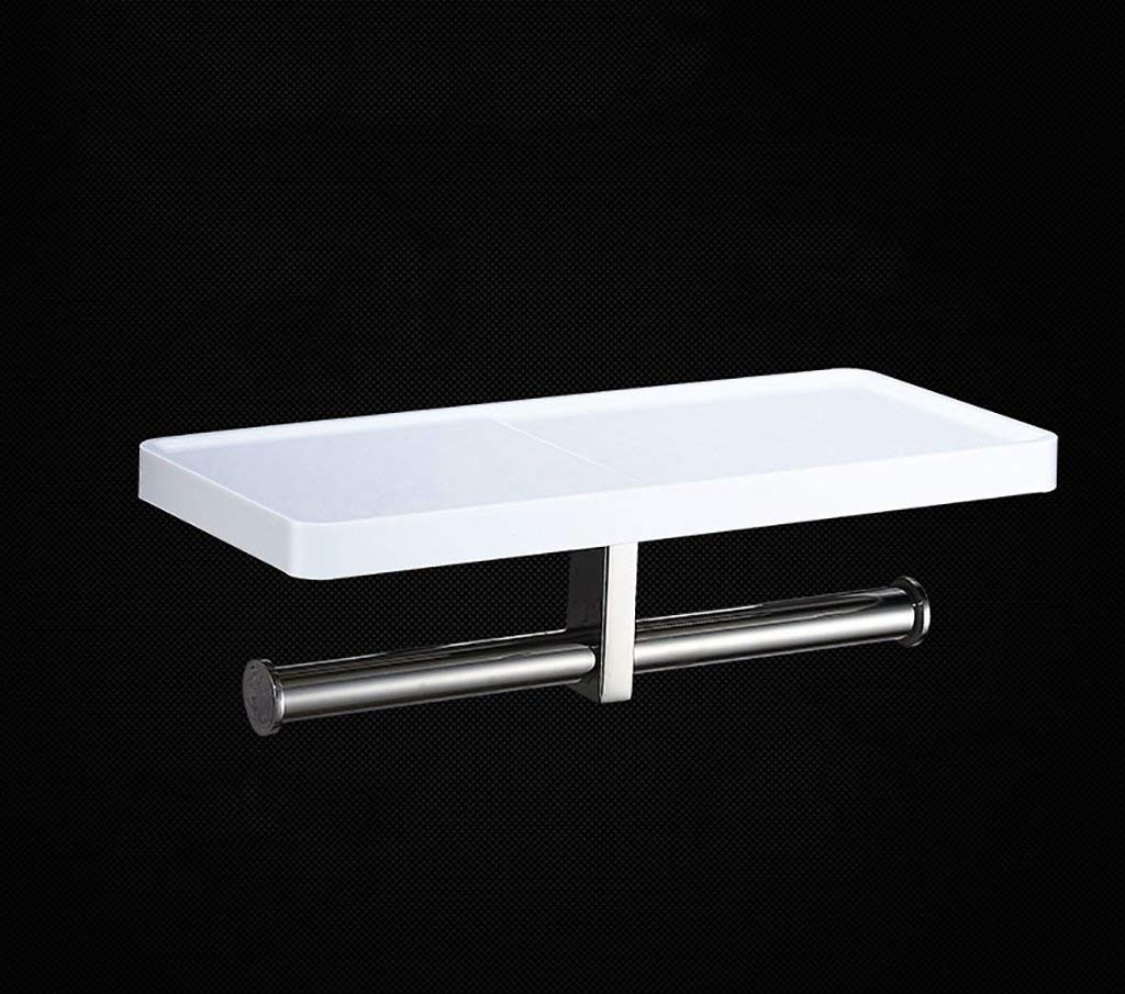 NAERFB Toilet paper holder of stainless steel of paper towel holder to the wall wall depend Paper Holder Bathroom Bathroom shelving
