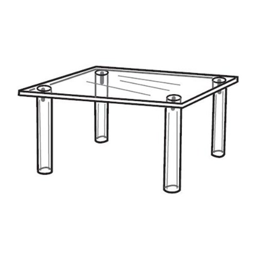 """Acrylic Square Table For Counter Tops - 10"""" x 10"""" x 7""""h"""
