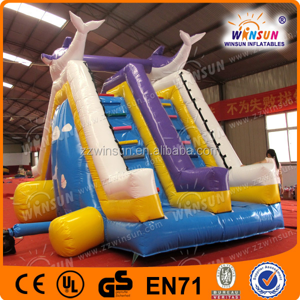 winsun lovely whale inflatable pool slide inflatable water slide parts