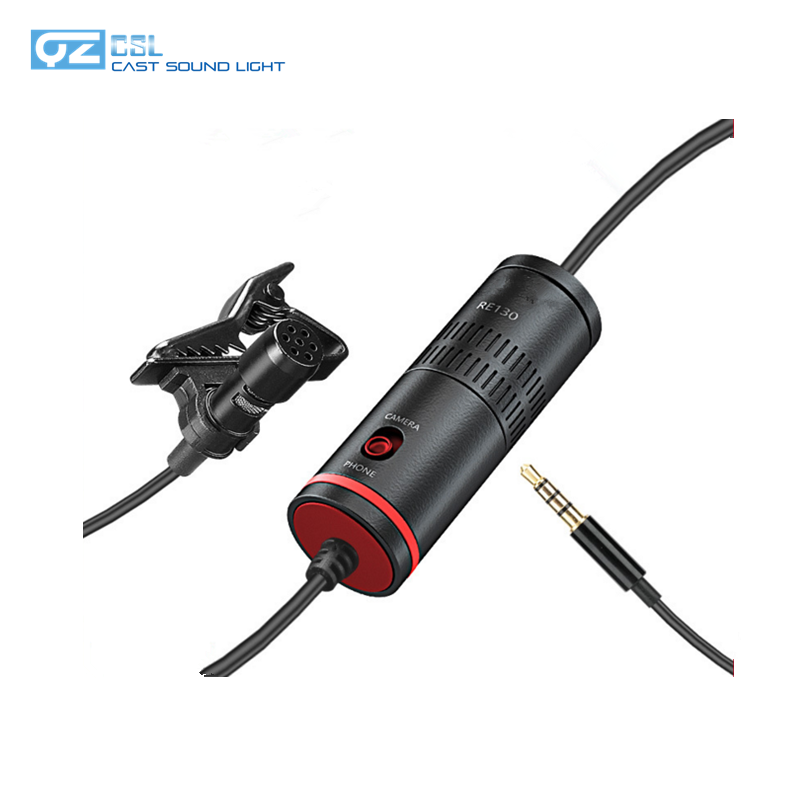 Camera DV SLR camera recording microphone mobile phone live interview small lavalier microphone