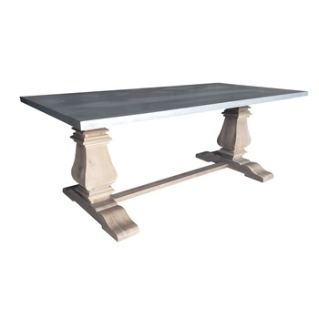 Zinc Top Rectangular Dining Table Buy Zinc Top Rectangular Dining Table Zinc Top Dining Table Zinc Dining Room Table Product On Alibaba Com