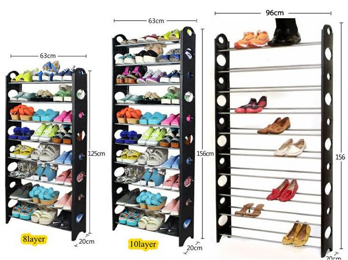 diy space saving shoe rack