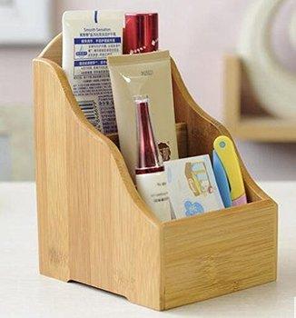 Bambu Pena Kasus Telepon Cd Organizer Caddy Kosmetik Makeup Alat