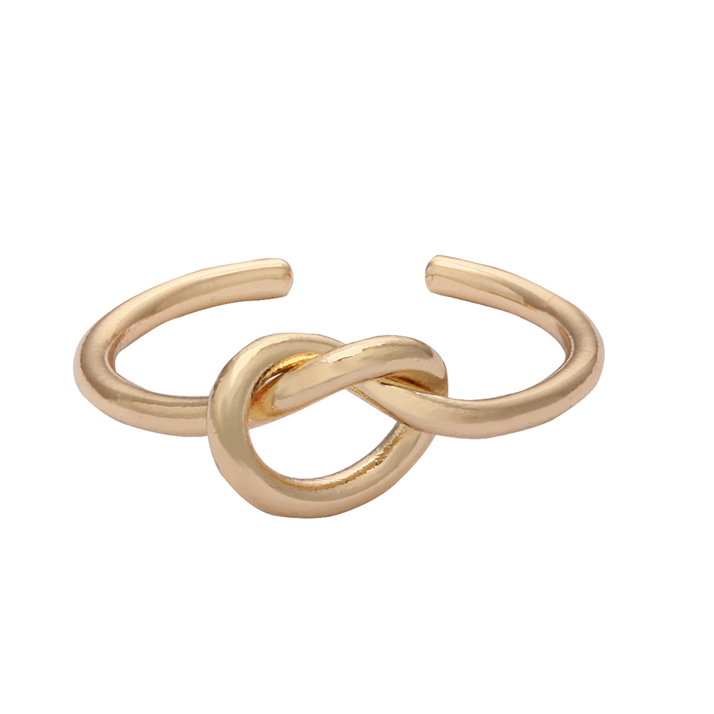 2017 most popular knot ring no closure gold charm ring