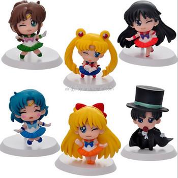 Japón Anime 6 Unids Sailor Moon Júpiter/marte/venus/1.6 Mamoru Chiba ...