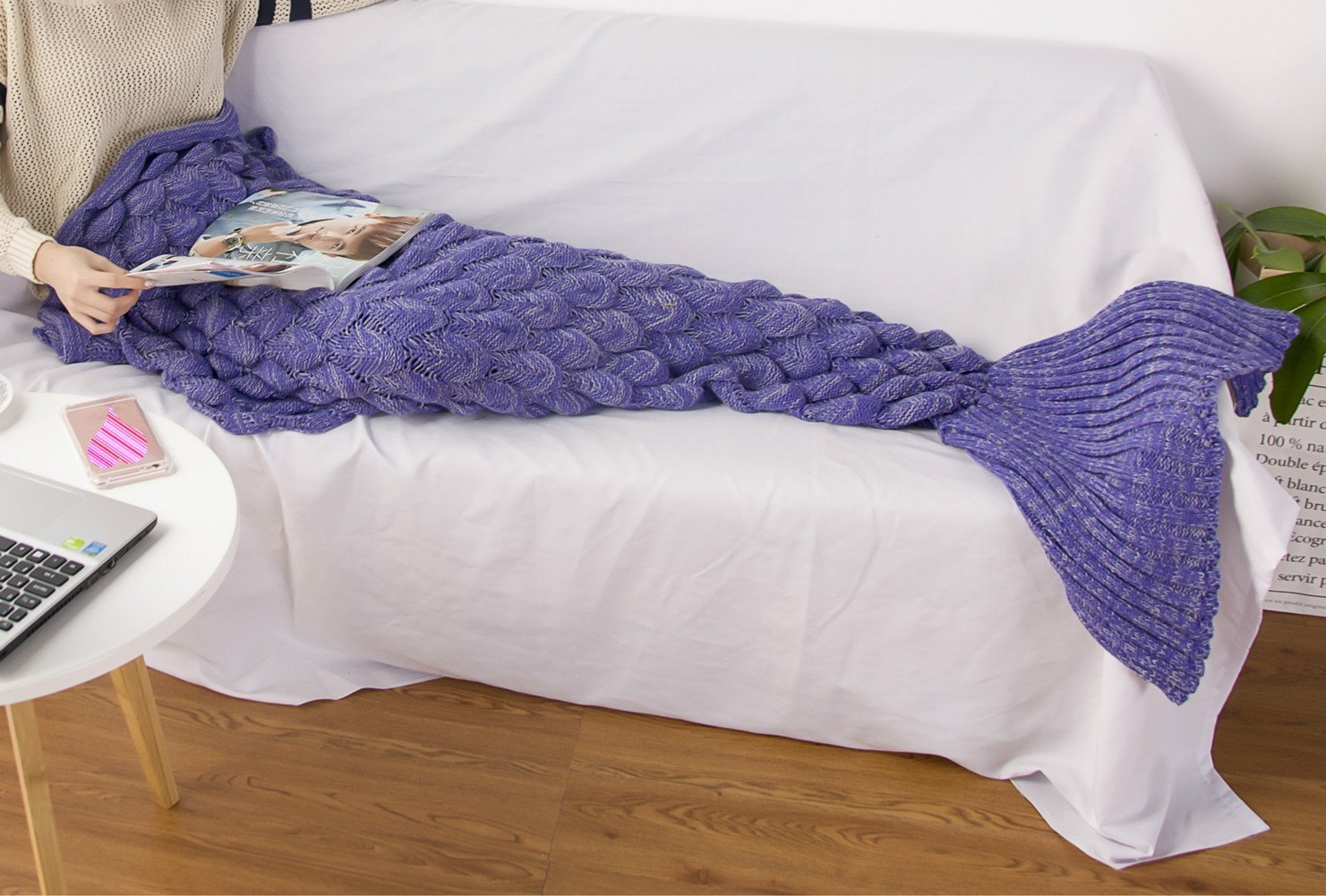 Yamuda Mermaid Tail Blanket For S Crochet Snuggle