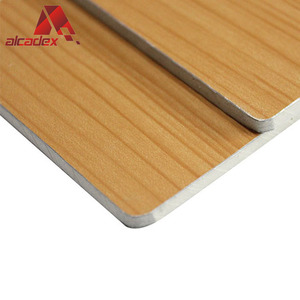 3mm Decoration Fireproof Wood Grain Price Wall Aluminum Composite Panel Acp Sheet