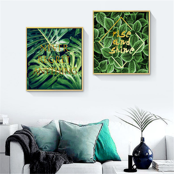 European Fashion Home Decor Green Tropic Plants Leaves Frame Canvas  Paintings - Buy Abstract Leaf Paintings,Tropic Print Painting,Bedroom  Decoration ...