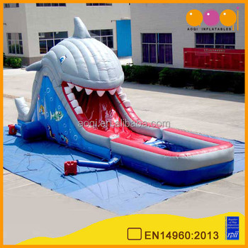 Aoqi Crazy Fun New Inflatable Attraction Shark Huge Inflatable