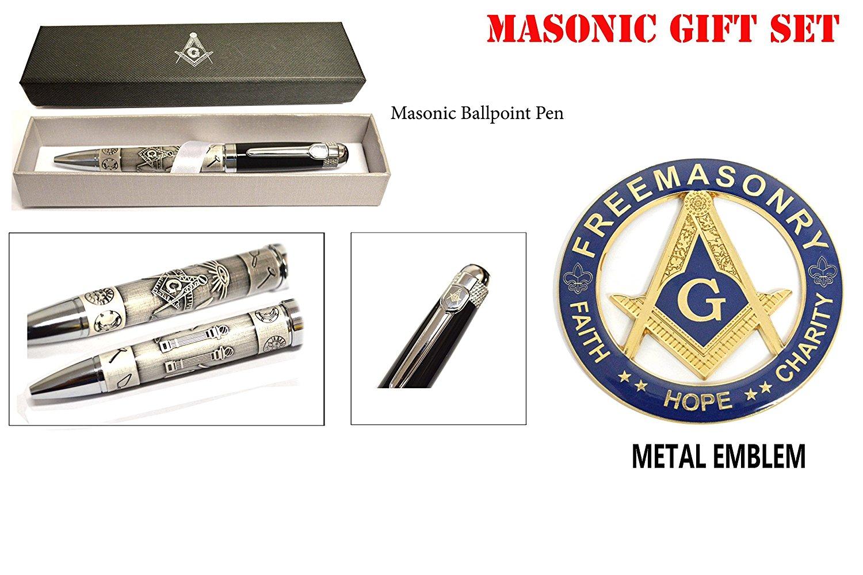 "Scottish Rite 32nd degree  3/"" Metal Emblem 3D  Freemason Masonic decal MAS3"
