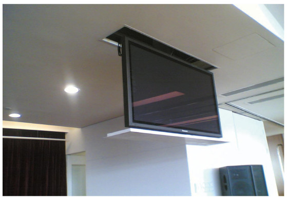 Controle remoto motorizada atuador autom tico teto drop down tv personalizado coluna elevador - Support tv motorise plafond ...