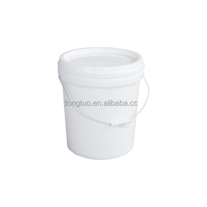 Wholesale 5 gallon white plastic buckets with lid and handle, small plastic buckets with lids