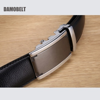 Bulk Luxury Ratchet Automatic Genuine Leather Belt Buckle for Men