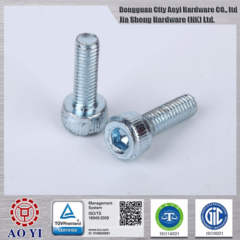 Environment protection carbon steel cap head screw for automobiles