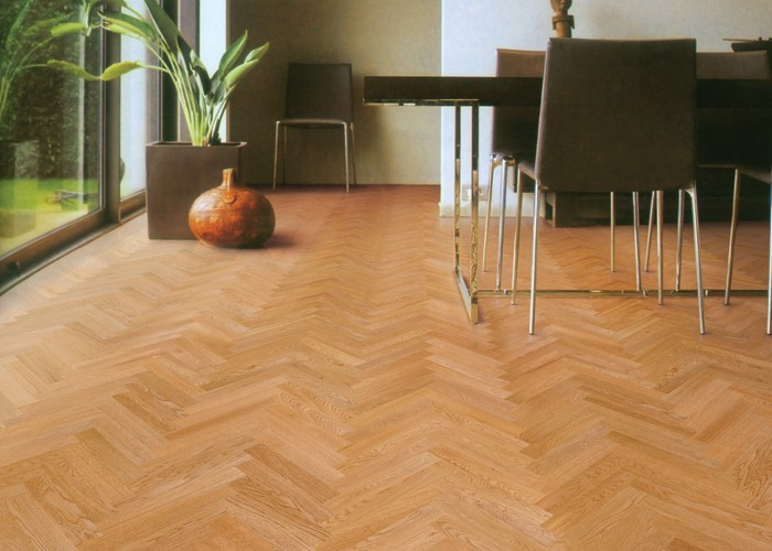 V Shape Flooring Natural Color Herringbone Natural Acacia