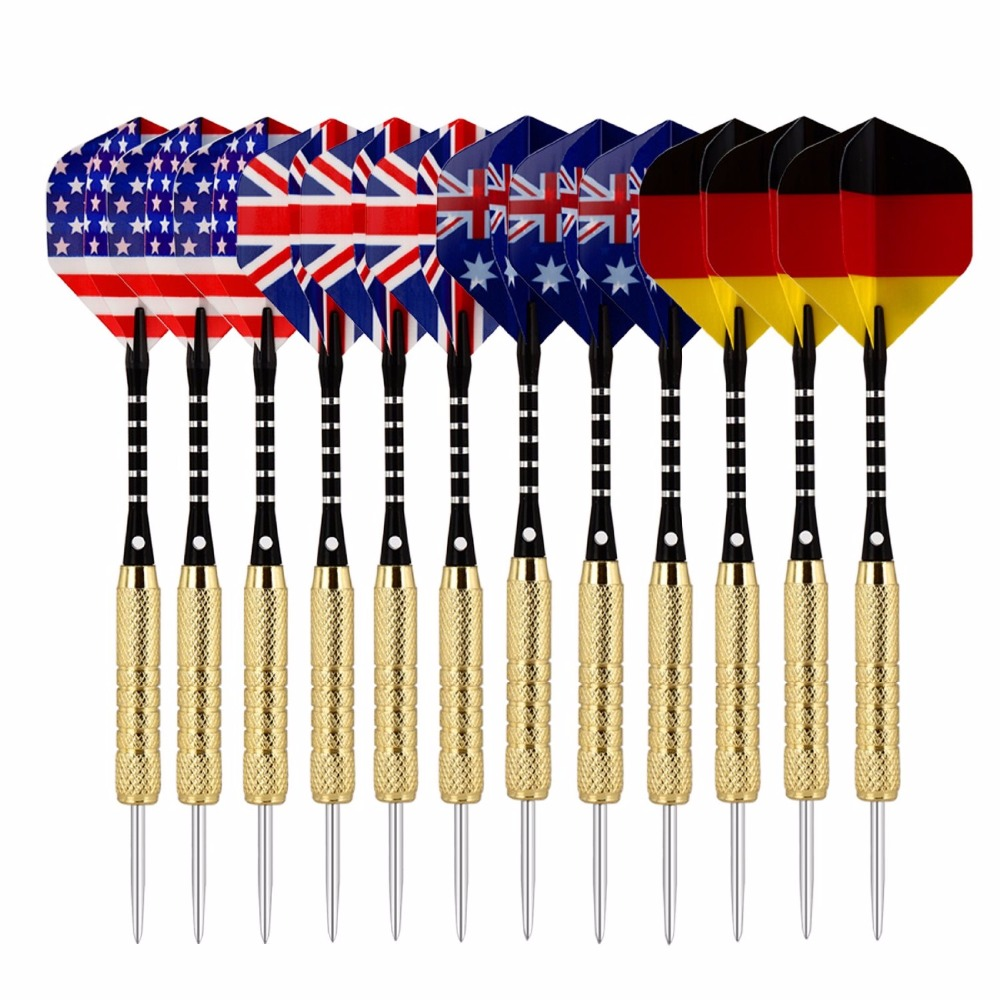 Tip Darts Bcsports Steel Tip Darts 12 Pack 18 grams with Aluminum Shafts