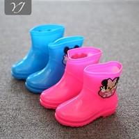 High quality cheap price fashion cute kids pvc rain boots