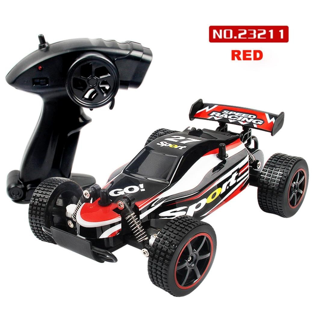 Hot sale! RC Toy, Remote Control Car,1:20 2.4GHZ 2WD Radio Remote Control Off Road RC RTR Racing Car Truck by Sunfei (Red)