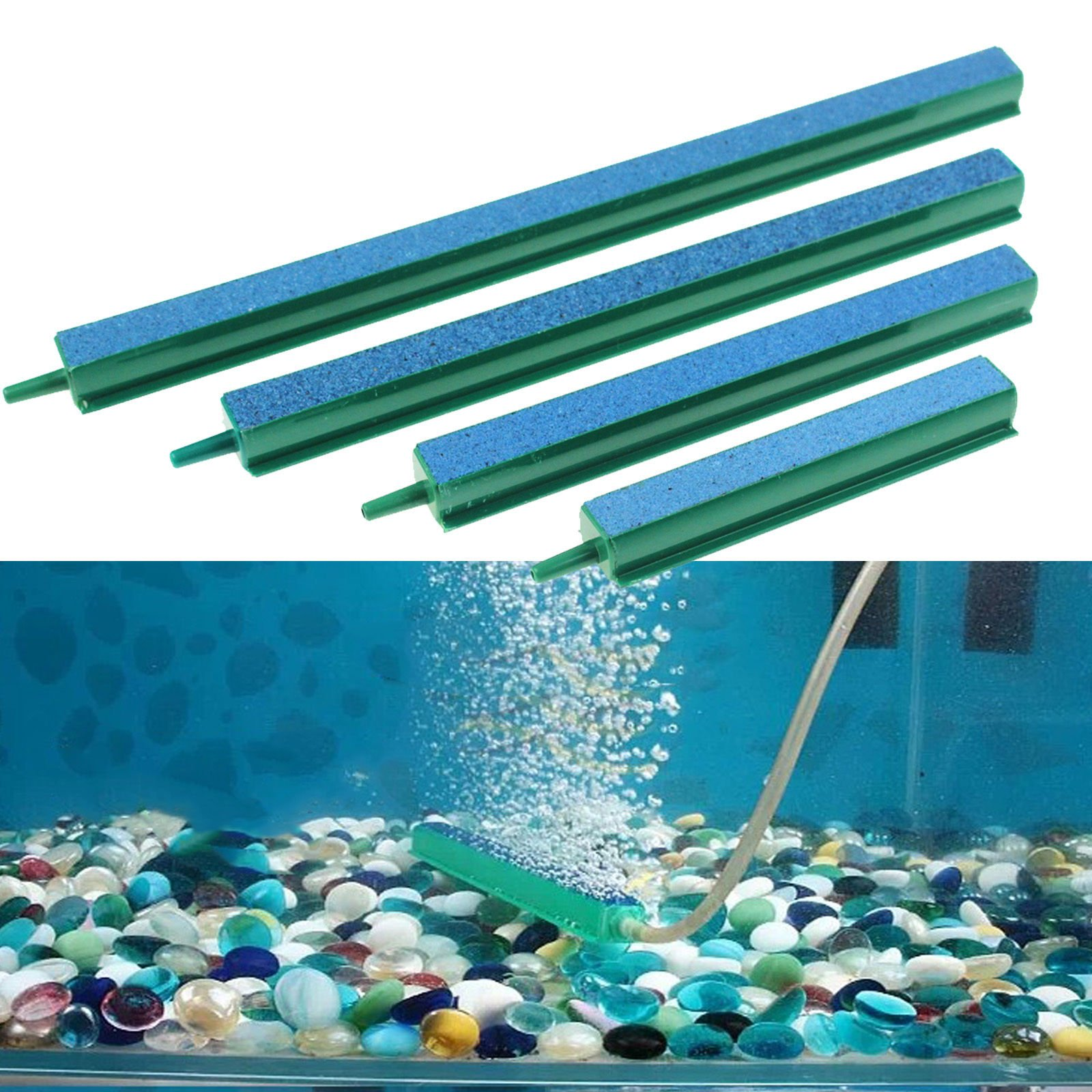 "Newly Fish Tank Aquarium Decor Air Stone Bubble Wall Tube 4"" 6"" 8"" 10"" Durable"