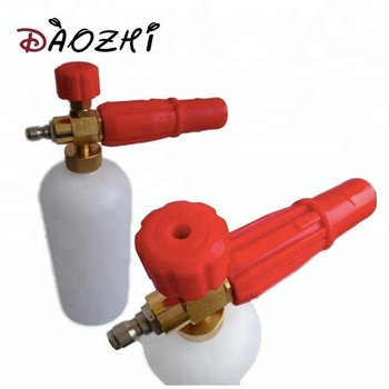 automatic car detailing red plastic rotating nozzle brass pressure foam snow for water cleaning gun