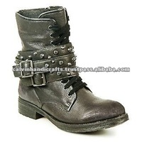 short boot / fashionable shoes/ new age boot/ fighter boot/ black boot