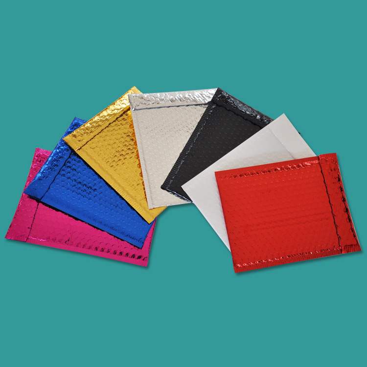 Customized colored poly bubble mailer