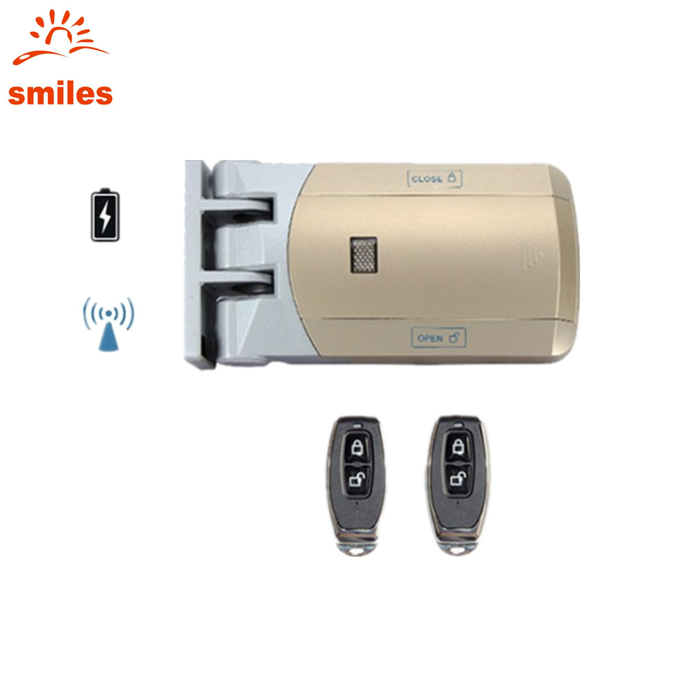 Easy Installation 433MHz Wireless Door Lock Access Control For Home Include Remote Controller