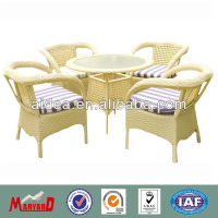 Wicker outdoor patio furniture dining table and chair MY9069