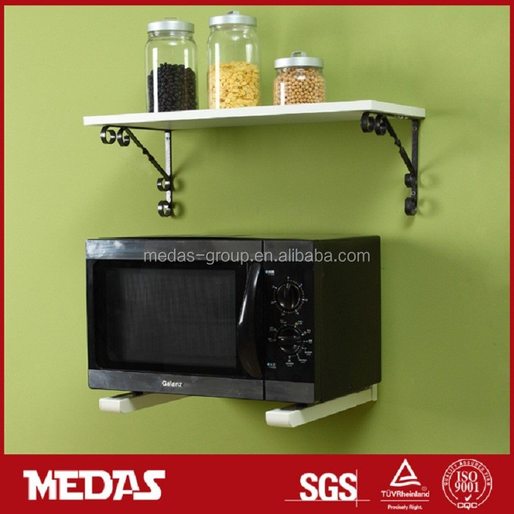 Microwave Oven Wall Mounted Hinged Bracket Hanging Brackets Mount Hidden Floating Shelf Product On Alibaba