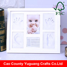 handprint and footprint kit newborn baby souvenir picture frame with heavy clay