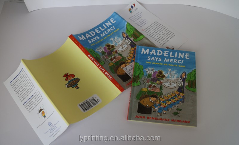 Wholesale Book in Hard Cover Binding, High Quality Cartoon Picture Children Story Book Printing Services