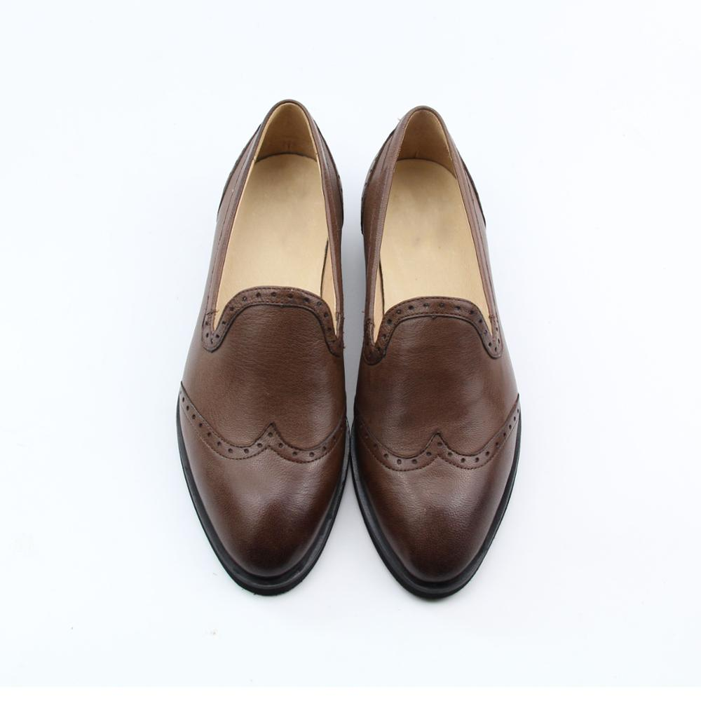 natural arrival brogues handmade leather oxfords shoes casual women's fretwork new lady YINZO UdnT4YS4