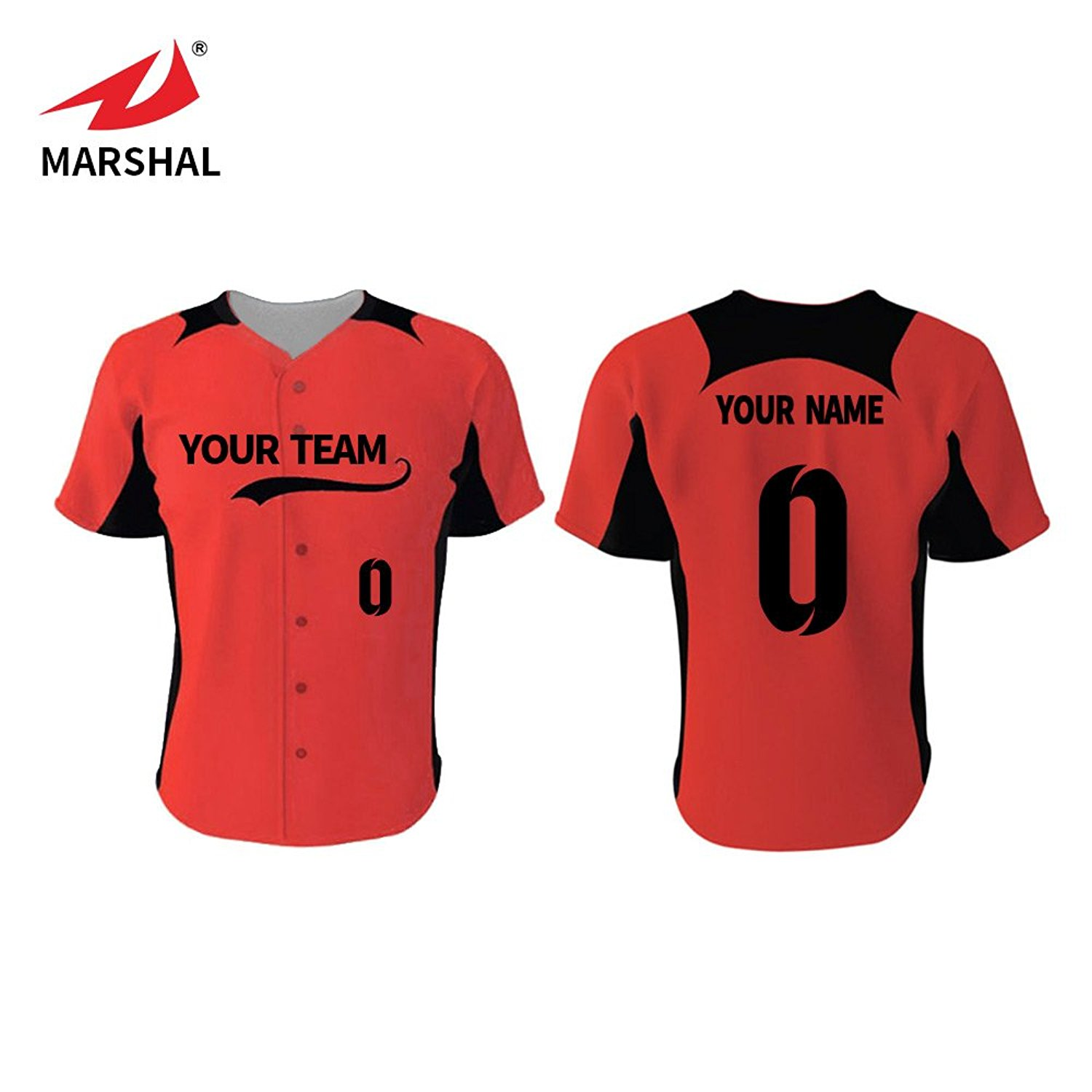 9ab1f59ac37 Get Quotations · Marshal Jersey Custom Baseball Jersey Full Sublimation  Sport Fabric Custom Your Team Name Your Number
