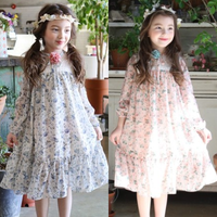 Korean Traditional Hanbok Girls Inspired Maxi Kids Chiffon Dress