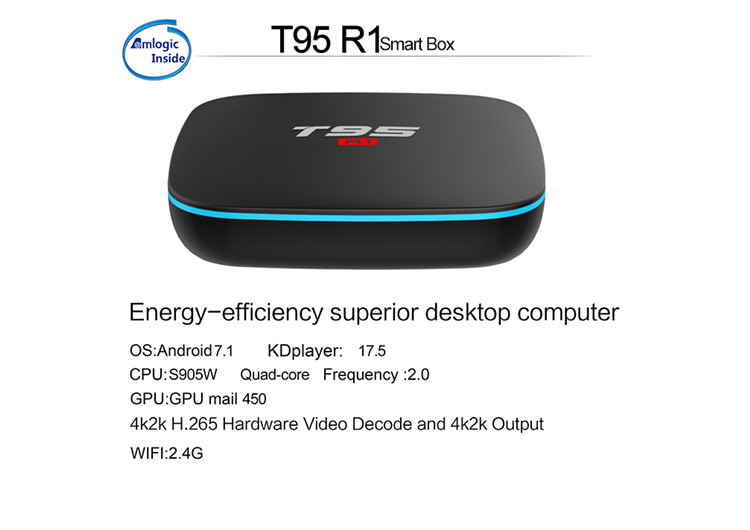 download user manual for android T95 R1 S905W 1G 8G tv box with android 7.1 free android download google play store tv box