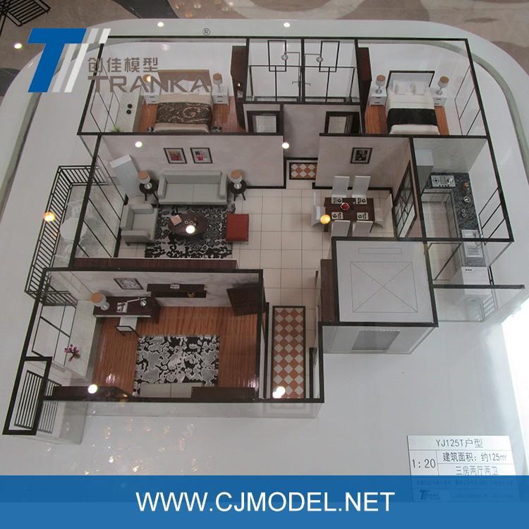 1 50 scale size interior design architecture model with - 1 4 scale furniture for interior design ...