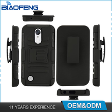 China Supplier Luxury Tpu Pc Combo 3 In 1 Kickstand Belt Clip Oem Accessories Mobile Phone Case For Lg K10 2017
