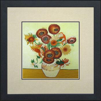 36128 Vase With Fifteen Sunflowers Van Gogh Sushoking Silk Art 100