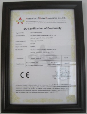 EC-Certification of Conformity