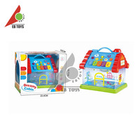 Colourful ABS material kids plastic pretend indoor small toy house