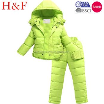 46716c2e9 2 Piece Puffer Jacket Snow Pants Ski Suit Unisex Kids Snowsuit - Buy ...