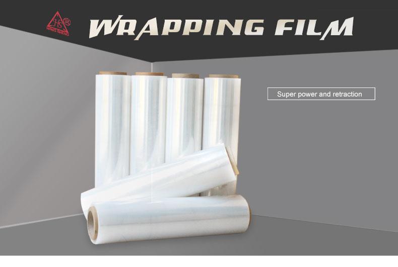 Kerst pallet meubels wikkelen stretch pe wrap film voor verpakking